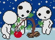 Tree Spirits Christmas Tree Perler Bead Pattern / Bead Sprite