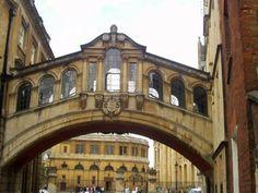Oxford, Bridge of Sighs, looking through the Bodlian Quad towards the Sheldonian Theatre.