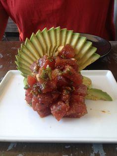Avocado..tuna...watermelon salad