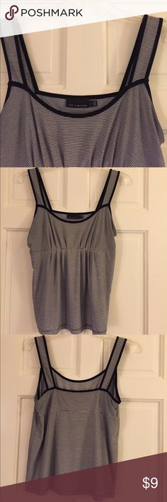The Limited Black and White Knit Tank Top The Limited  - Black and White Striped Knit Tank Top. Excellent used condition ❤️😊 Bundle to save. The Limited Tops Tank Tops