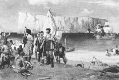 """In 1534, Jacques Cartier set sail under a commission from King Francis I of France, hoping to discover a western passage to the wealthy markets of Asia. In the words of the king's commission, he was """"to discover certain islands and lands where it is said that a great quantity of gold and other precious things are to be found"""". Starting on May 10 of that year, he explored parts of Newfoundland, the areas now known as the Canadian Atlantic provinces and the Gulf of St. Lawrence."""