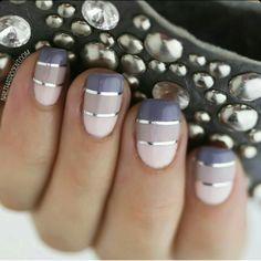 Fio prata nail design