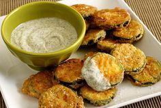 Fried Zucchini with Cool Dill Dip