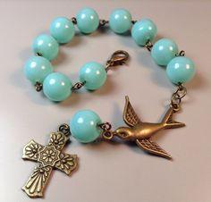 Hey, I found this really awesome Etsy listing at https://www.etsy.com/listing/208380121/prayer-beads-catholic-rosary-travel