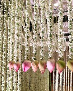 10 Post Lockdown Intimate Wedding Decor Ideas to bookmark Indian Wedding Flowers, Flower Garland Wedding, Flower Garlands, Flower Decorations, Floral Wedding, Backdrop Decorations, Lanterns Decor, Diy Flowers, Desi Wedding Decor