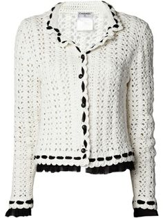 CHANEL VINTAGE - double collar crochet jacket 8♪ ♪ ... #inspiration_crochet #diy GB