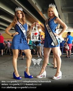in Marc Defang SHOES!!!  Both Ms New York 2013 Stephanie Jill & Miss New York 2013 Hazel Pascual, Getting ready for this weekend's DC pageant!  July 4th, 2013!  Happy independence day!! Marc <3