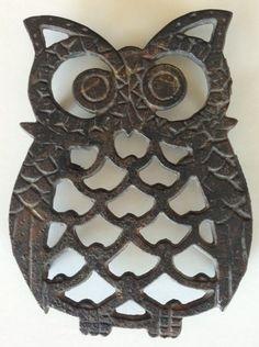 Vintage Cast Iron OWL Kitchen Trivit