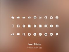 Minia Icon Set by Egemen Kapusuz