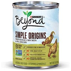 Purina Beyond Simple Origins FREE-RANGE CHICKEN & PEA Recipe Natural Dog Food (6-CANS) (13 OZ EACH) - You could find more details by visiting the image link. (This is an affiliate link and I receive a commission for the sales)