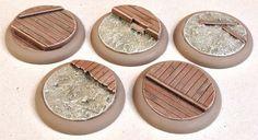Warmachine/Malifaux. Wargames bases. 40mm Wild Western x5 (Resin) Lipped | eBay