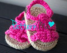 Crochet Baby Pattern Sandals #9