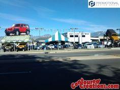 Inflatable Jeep Wrangler. ContouredCreations.com
