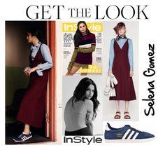 """Selena Gomez Photoshoot InStyle UK January 2016 #4"" by valensmilerstyle ❤ liked on Polyvore featuring mode, Marni et adidas Originals"