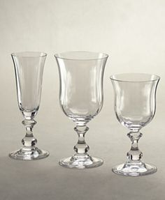 Mikasa's French Countryside stemware in 24% lead crystal. $10