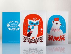 Winter wonders ( holiday cards by darling clementine) via @Jimmy Eaton Beefy