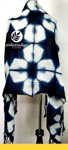 BEAUTIFULS SCARVES by Anihra Indigo 100% hand made from El Salvador, the positive side of the world .