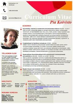 CV - Pia Koivisto