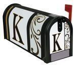 """Monogram K"""" Magnetic Mailbox Cover"""" by Carson. $9.99. Made of durable fade resistant vinyl and will not crack or tear.. Mailbox Cover and Front face may be trimmed for a custom fit.. Fits standard sized mailboxes, 6.5""""W x 19""""L. Each mailbox cover and front face has attached magnetic strips.. Includes a sheet of vinyl numbers & zip ties.. Give your mailbox a new look for every season and reason! Magnetic mailbox covers are offered in a wide variety of unique designs that ..."""