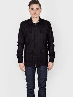 Basus - Overshirt Wool Flannel Full Black - Antic Boutik