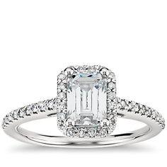 1.9 ct. Center Diamond Blue Nile Studio Emerald Cut Heiress Halo Diamond Engagement Ring | Recently Purchased | Blue Nile