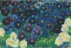 Emil Nolde , German Danish painter ( 1856-1967) .                                                        Blaue Stiefmütterchen , 1908 Oil on canvas , 33.5 x 43.9 cm Private collection
