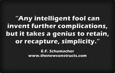 A quote on simplicity