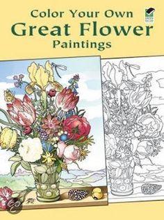 PerfectSweetColors: Great Flower Paintings- Kleurboeken-Winkel