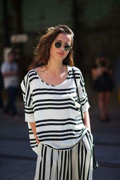 matching shirt & skirt stripe set