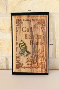 Wall plaque by Jesusolivewood on Etsy, $32.00