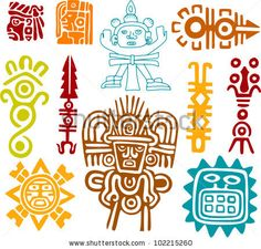 stock vector : Maya Set- symbols