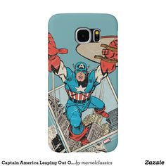 Captain America Leaping Out Of Comic