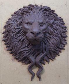 Large Bronze Lion Head Door Knocker / Pull by KarlDeenSanders