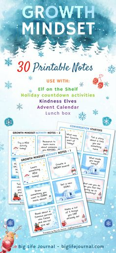 30 Growth Mindset Printable Notes | Winter Themed – Big Life Journal