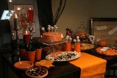 Orange and Black table