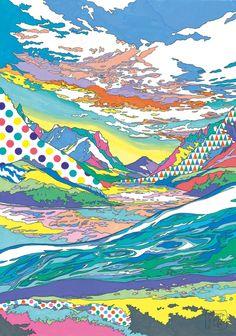 Asakura Kouhel Landscape, 2012 watercolor, colored pencil on drawing paper