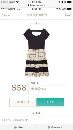 Gilli Halie Dress.   This dress is perfection and the fit is wonderful.  $58.00