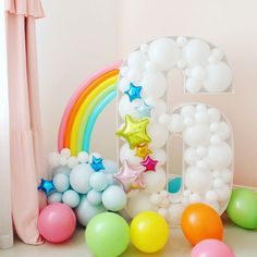 """Cute Kids Party Inspiration 🎉😍 on Instagram: """"Happy sixth birthday!! 🥳🎉🌈 • • Photo Cred: thecreativeheartstudio"""" Rainbow Birthday Party, Unicorn Birthday Parties, Unicorn Party, Birthday Party Themes, Happy Birthday, Birthday Balloon Decorations, Fiesta Decorations, Birthday Balloons, Photo Ballon"""