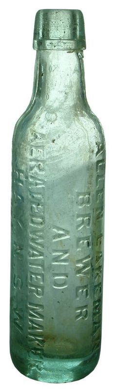 Auction 26 Preview | 162 | Allen Lakeman Brewer Aerated Water Hay Bottle