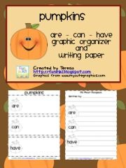Classroom Freebies Too: Pumpkins Writing Graphic Organizer