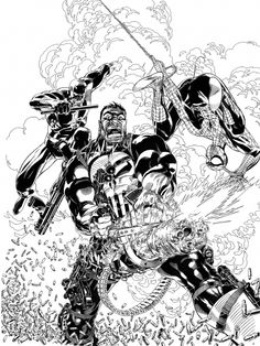 the cover toThe Punisher Anniversary Magazine by Michael Golden