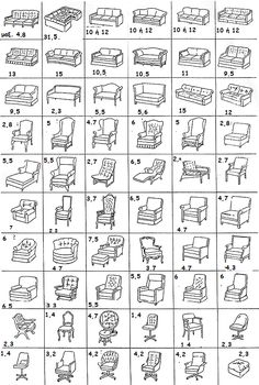 ΠΟΣΑ ΜΕΤΡΑ ΧΡΕΙΑΖΕΣΤΕ ΓΙΑ ΚΑΛΥΜΜΑΤΑ Αναλυτικοί πίνακες με όλους τους τύπους σαλονιών, καναπέδων, καρέκλες τραπεζαρίας, γραφείου, βεράντας και άλλα!!!! Βρείτε του τύπο των δικών σας επίπλων και μάθετε πόσα μέτρα χρειάζεστε!!! Τα μέτρα που αναγράφονται σε κάθε τύπο και σχέδιο, αφορούν βεβαίως το ύφασμα που χρειάζεται , δεν μας δίνει όμως διαστάσεις και μέγεθος του...