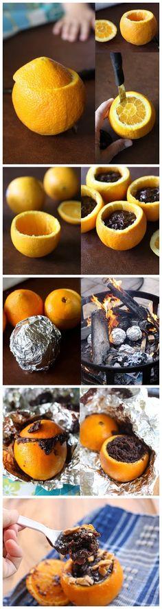 Fudgy Campfire Cakes