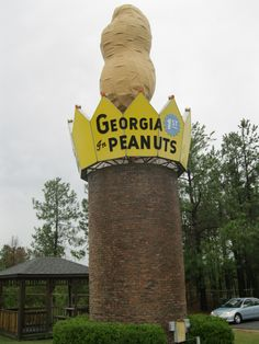 World's Largest Peanut, Ashburn, GA Vintage Advertising Signs, Vintage Signs, Vintage Advertisements, Georgia Usa, Georgia On My Mind, Places To Travel, Places To Go, Roadside Attractions, Unusual Things