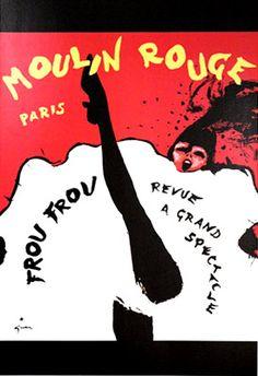 Gruau Moulin Rouge Frou Frou by Galerie Montmartre