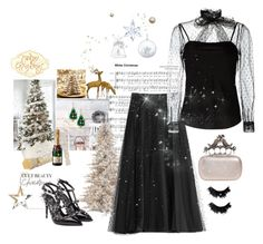 """""""White Christmas"""" by juliabachmann ❤ liked on Polyvore featuring RED Valentino, Valentino, NYX, Alexander McQueen and Swarovski"""