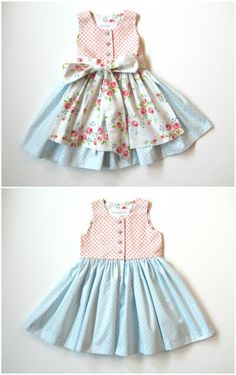 Classical-romantic dirndl dress in delicate pink and blue pastel tones. Traditional dress for oktoberfest / dirndl dress in pastel pink and blue as women's outfit for the oktoberfest made by milibitschi via. Baby Dirndl, Long Pink Hair, Cotton Frocks, Diy Clothes, Clothes For Women, Pastel Pink, Pastel Shades, Baby Costumes, Color Rosa