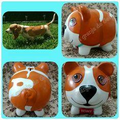 Mascotas Pig Bank, Personalized Piggy Bank, Color Me Mine, Cute Piggies, Pottery Painting, Paper Mache, Sugar Skull, Clay, Diy Crafts