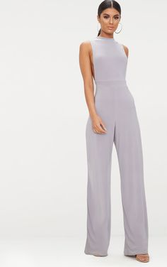 Ice Grey Slinky Side Boob JumpsuitThis jumpsuit is giving us minimalist feels girl. Featuring an ...