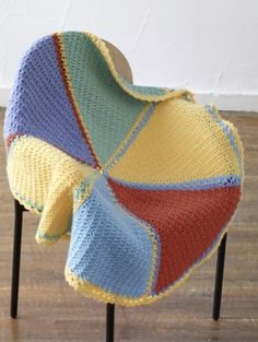 Image of Rainbow Wedges Baby Afghan